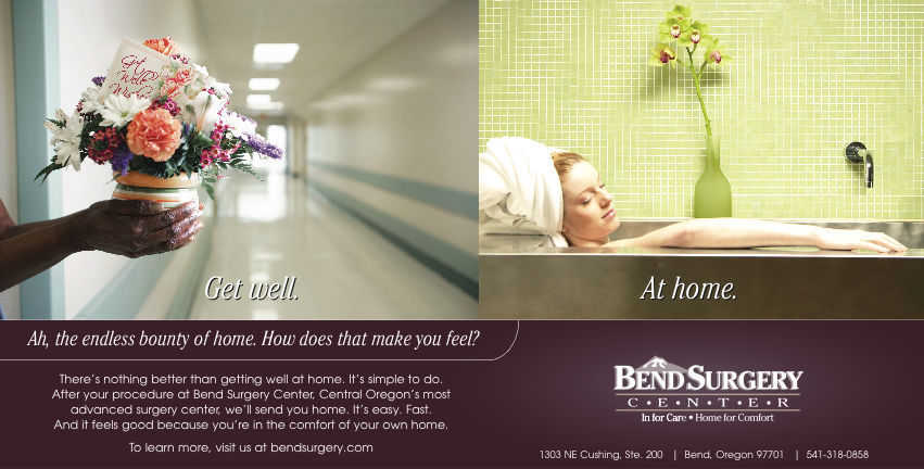 Bend surgery center at home ad campaign whitten design for Ad house